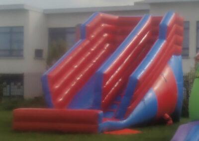 Super Slide Red and blue 10ft platform